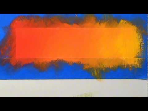 Blending acrylic paint (red through yellow)