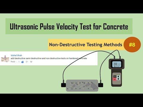 Ultrasonic Pulse Velocity Test for Concrete || Non-Destructive Testing Methods (NDT) #8