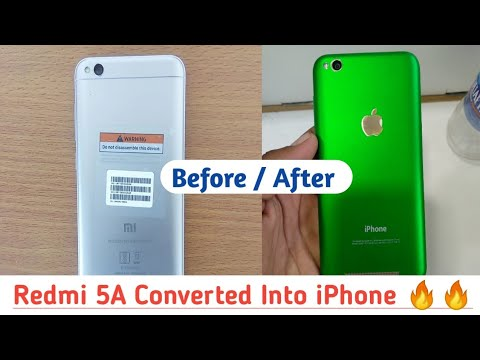 Redmi 5A Converted Into iPhone X | Tech 4 You |