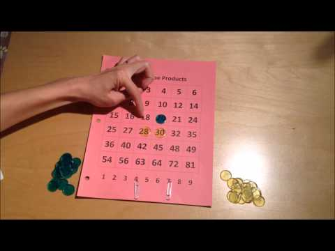 Tic Tac Toe Products: Math Game