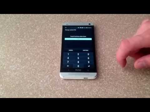 How to turn passcode / pattern on/off on a HTC One