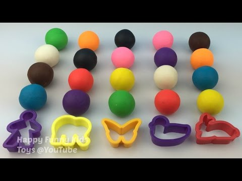 Play and Learn Colours With Play Dough Balls Molding Fun for Kids and Children
