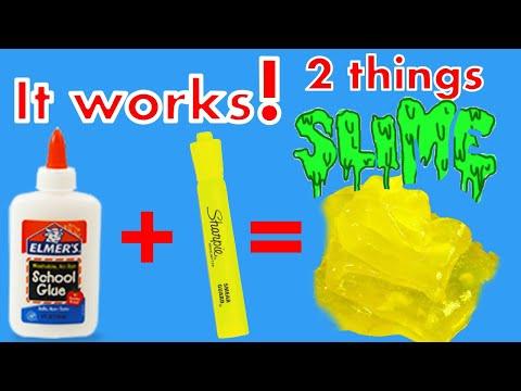 How To Make Slime with Highlighter DIY Slime No Borax !!!