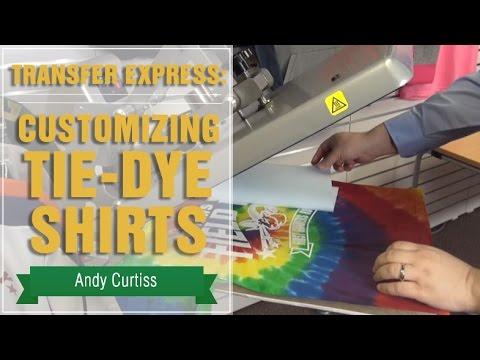 How to Heat Press Tie-Dye Shirts   Transfer Express