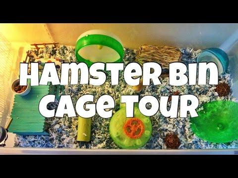 Goyle's House! (Robo Hamster Bin Cage Tour) 2015