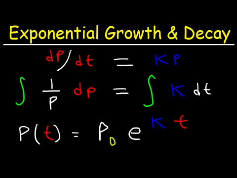 Exponential Growth and Decay Calculus, Relative Growth Rate, Differential Equations, Word Problems