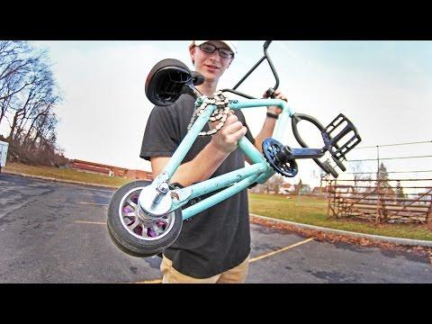 SCOOTER WHEELS ON A BMX BIKE!!!