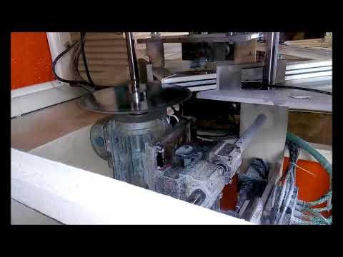 upvc fabrication process cnc corner cleaning, end milling, glazing bead cutting