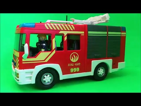 5363 Playmobil Fire Engine City Action UK Unboxing and Full Build for 2016