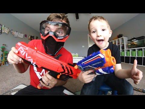 Father & Son / RIVAL NERF GUN -VS- NORMAL NERF GUN!
