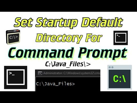 Set Startup Default Directory For Command Prompt ( CMD ) In Windows
