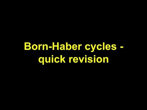 Quick Revision - Born-Haber Cycles