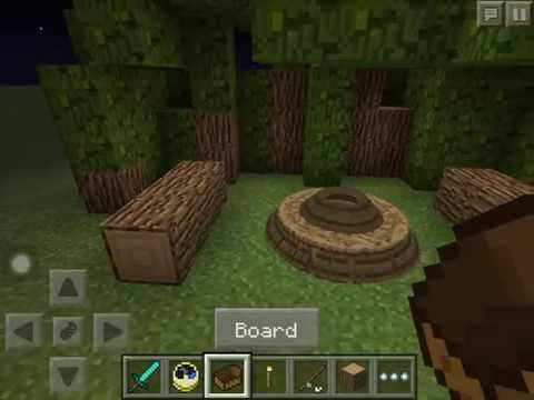 How to make a camp fire in Minecraft pe