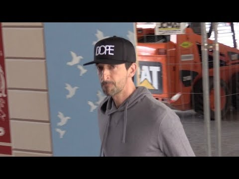 EXCLUSIVE : Adrien Brody arriving at Nice airport for Cannes Film Festival