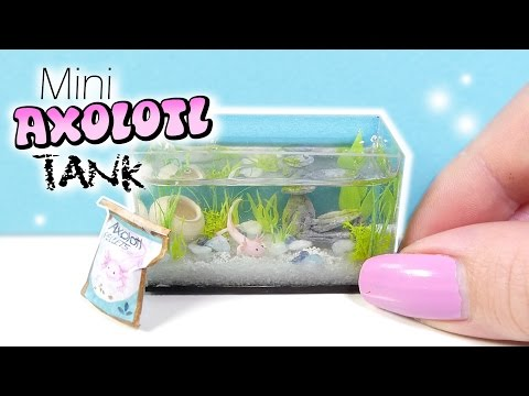 How To Mini Axolotl Tank Tutorial // DIY Miniature Aquarium