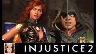 INJUSTICE 2 - STARFIRE VS TEEN TITANS ALL INTERACTION/INTRO DIALOGUES