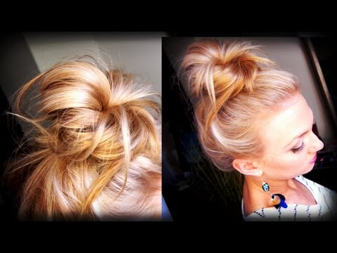 Hair How To: Messy Topknot Bun