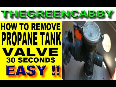 EASY - PROPANE TANK VALVE REMOVAL - HOW TO TAKE OFF PROPANE TANK REGULATOR GUAGE  FITTINGS