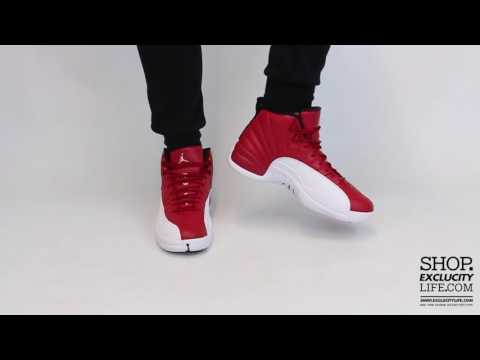 sports shoes db2b1 67fc8 Air Jordan 12 Retro Gym Red White On feet Video at Exclucity
