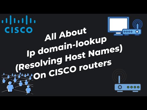 ip domain-lookup (Resolving Hostnames) on CISCO routers.