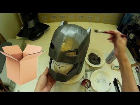 Make Armored Batman Helmet Part 2 - Papermache & Paint // Costume How to