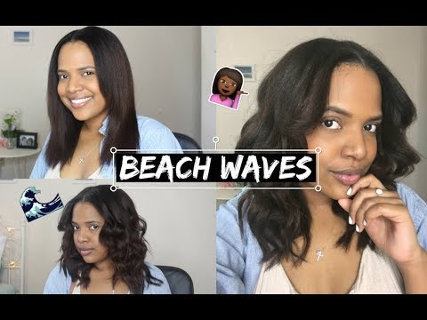 How To: Beach Wave Curls | Natural Hair