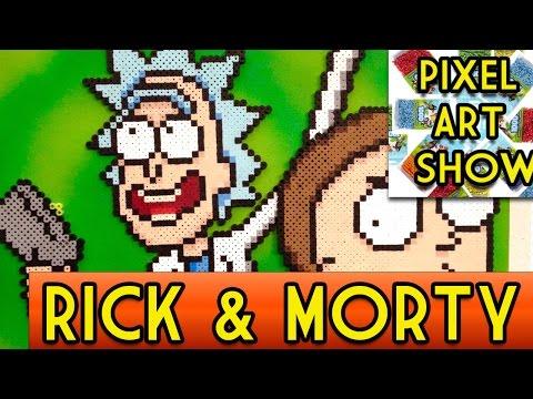 Perler Bead Tutorial: Rick and Morty Project - Pixel Art Show