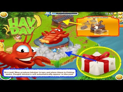 Hay Day - Opening The Lobster Machine