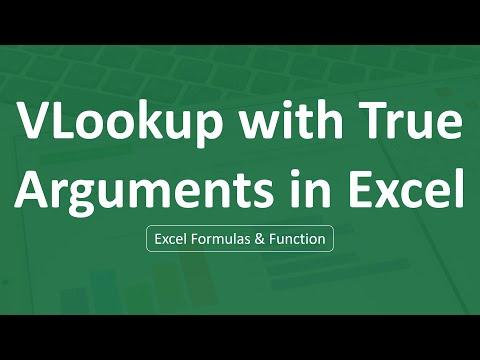Vlookup True arguments in Excel | Excel Formulas
