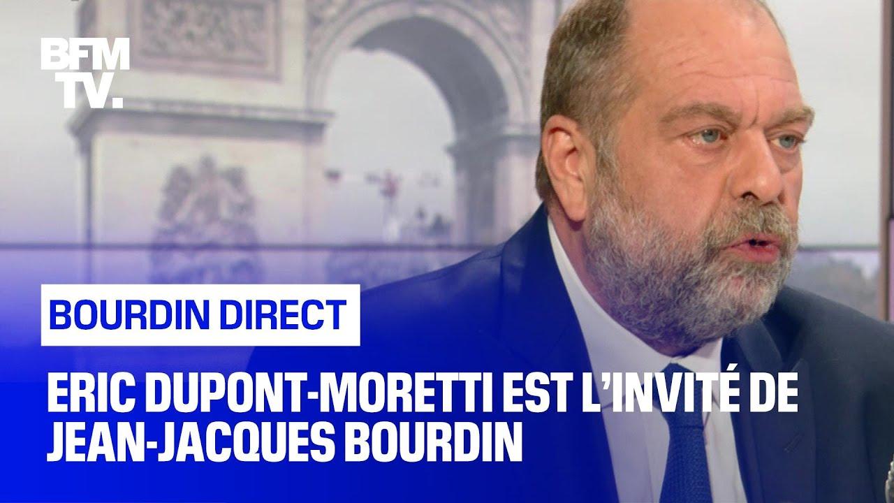 Eric Dupont-Moretti face à Jean-Jacques Bourdin en direct