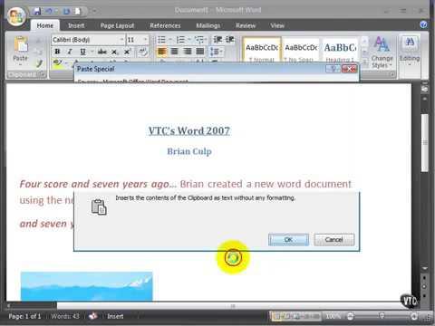 Microsoft Word 2007 ENG TB 02 04 Cut Copy Move