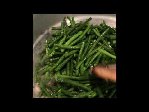 Ginataang sitaw at kalabasa with shrimp recipe