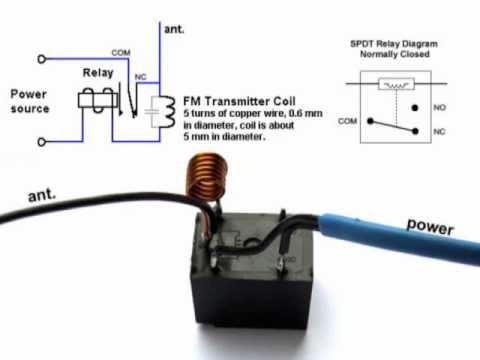 DIY - Home made TV / Radio Jammer with SPDT Relay - Schematic (Circuit Diagram)