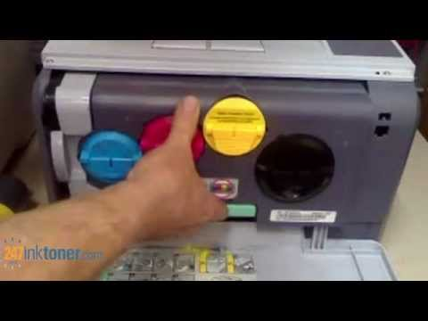 How to change the Samsung CLP-300 toner cartridges