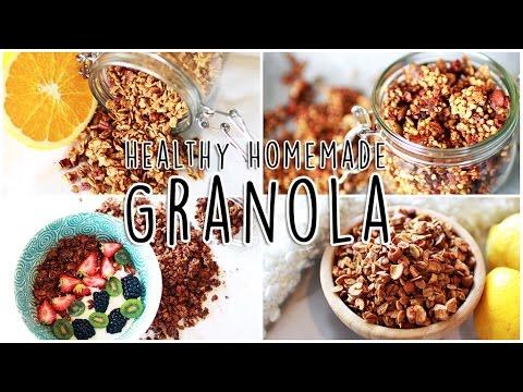 4 Homemade Granola Recipes! // Healthy Breakfast Ideas