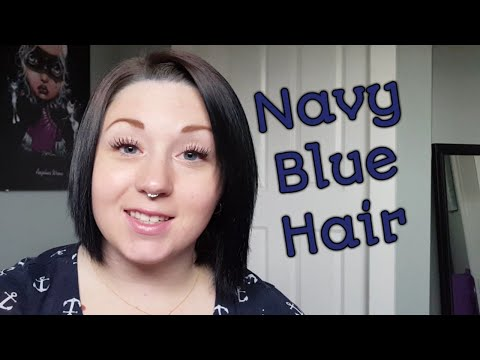 How I died my hair Navy Blue