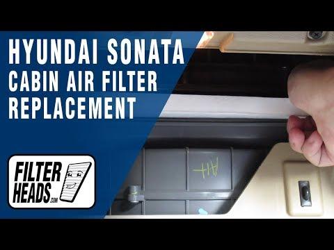 How to Replace Cabin Air Filter 2014 Hyundai Sonata
