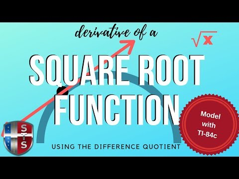 Calculus - Difference Quotient - Square Root Function