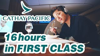 INCREDIBLE Cathay Pacific FIRST Class | Hong Kong - New York | Boeing 777-300ER | 캐세이퍼시픽 일등석 후기
