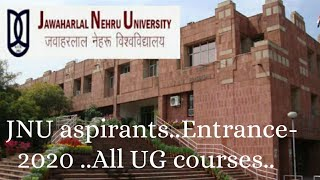 JNU Entrance-2020!!All aspirants..!!Let
