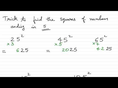 Trick to find square of a number ending with 1 or 5