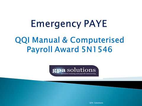 How Emergency PAYE is calculated