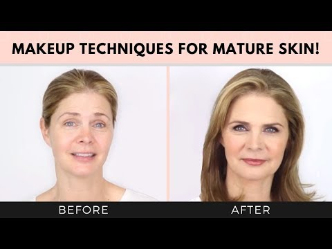 Makeup tips to look 10 years younger! Mature Skin Care