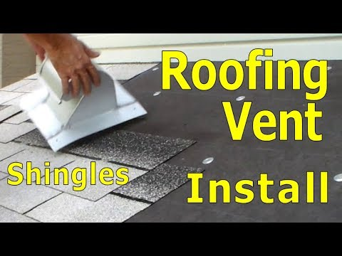 Roofing - How To Install Exhaust Vent - Stove Dryer Bathroom - Asphalt Shingles