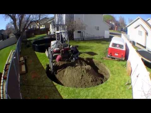 In-ground Trampoline Install Time Lapse