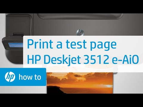 Printing a Test Page - HP Deskjet 3512 e-All-in-One Printer