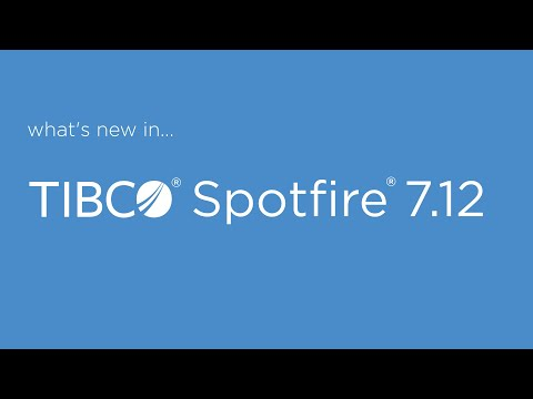 New features in Spotfire 7.12