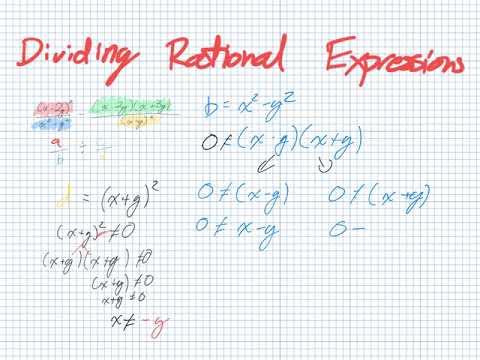 Dividing Rational Expressions (Grade 11 University Lesson 2.7)