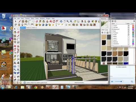 Google Sketchup Tutorial 11- Vray Exterior animation-English