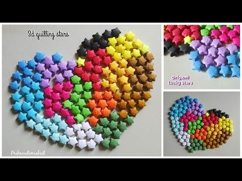 Paper stars | Origami stars | How to make lucky paper stars tutorial
